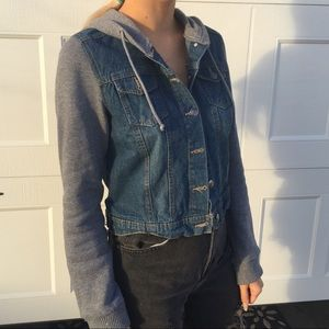 Jean vest and sweater jacket